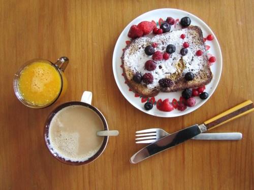 sap, koffie en een wentelteefje
