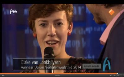 Elske van Lonkhuyzen wint Opium Verhalenwedstrijd 2014