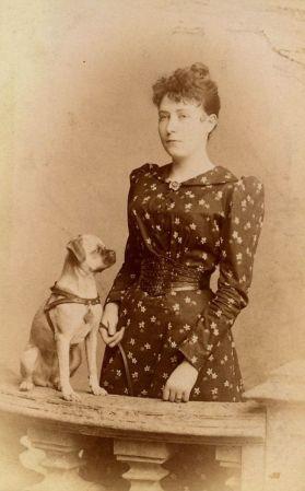 Vrouw met hondje